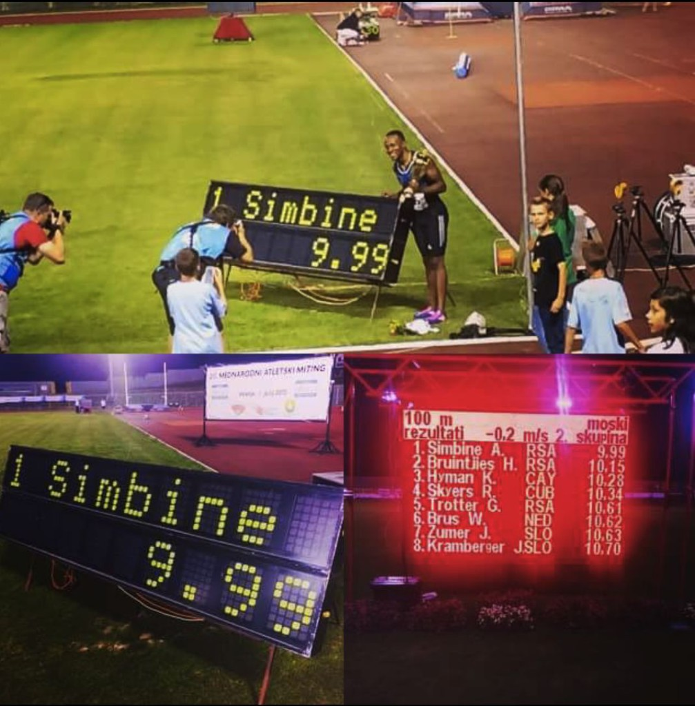 9.99 sec for Akani Simbine in Slovenia