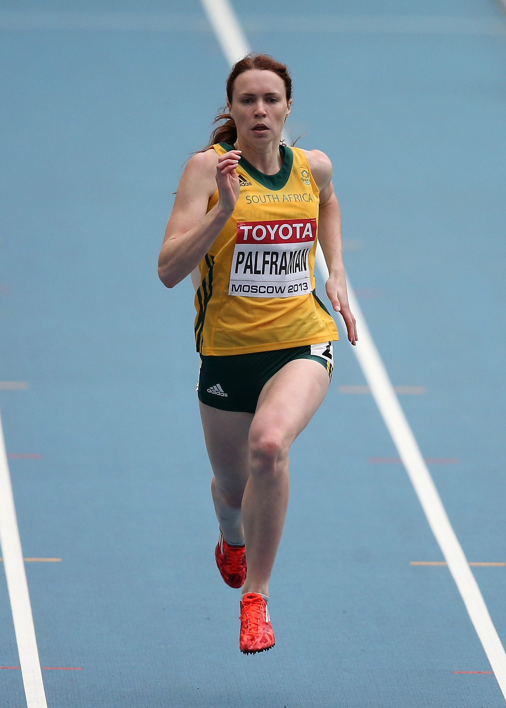 Justine Palframan of South Africa competes in the 14th IAAF World Athletics Championships Moscow 2013 at Luzhniki Stadium